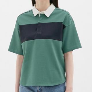 ジーユー(GU)のラガーシャツ(五分袖) GU(ポロシャツ)