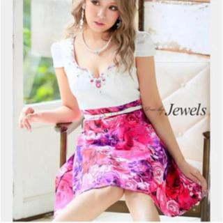 Jewels 新品 Mサイズ Aライン ミニドレス キャバドレス