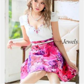 Jewels 新品 Lサイズ Aライン ミニドレス キャバドレス