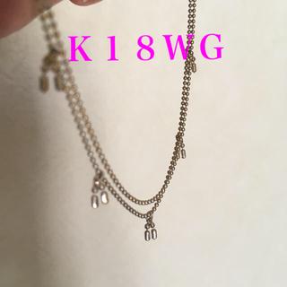 ブレスレット K18WG ホワイトゴールド