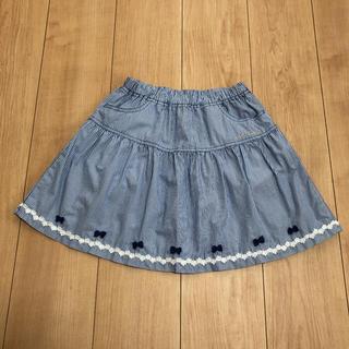 ミキハウス(mikihouse)のミキハウス ブルーストライプスカート(Lサイズ)(スカート)