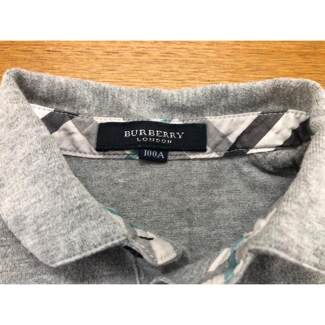 BURBERRY(バーバリー)の*うるる様専用*バーバリー ポロシャツ  グレー 100cm キッズ/ベビー/マタニティのキッズ服男の子用(90cm~)(Tシャツ/カットソー)の商品写真