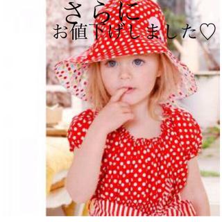 ウーヴィーベビー(Oobi BABY)のOobi ウービー サンハット☆レッドXドット(帽子)