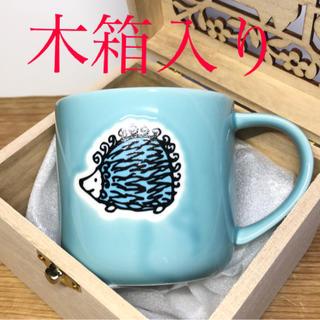Lisa Larson - Lisa Larson ラインアート マグカップ ハリネズミ柄 (木箱入)