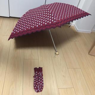 Vivienne Westwood - 【美品】ヴィヴィアンウエストウッド:折りたたみ傘 晴雨兼用 バラ スカラップ