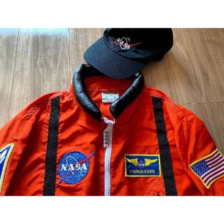 NASA 宇宙飛行士 宇宙服(オレンジスーツ)レプリカ大人用 キャップ付き (衣装一式)
