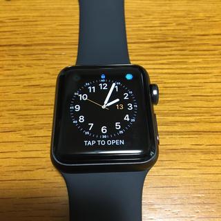 Apple Watch - APPLE WATCH3 GPSモデル 38mm スペースグレイ+ブラックバンド