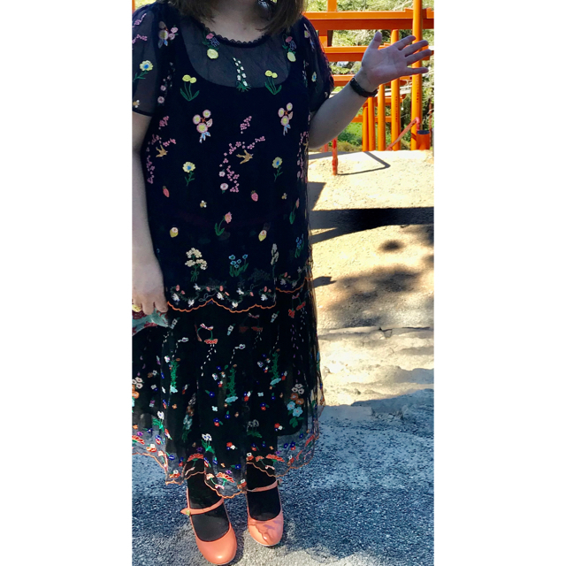 franche lippee(フランシュリッペ)の期間限定お値下げ!フランシュリッペ ぼたぼたチュールスカート レディースのスカート(ひざ丈スカート)の商品写真