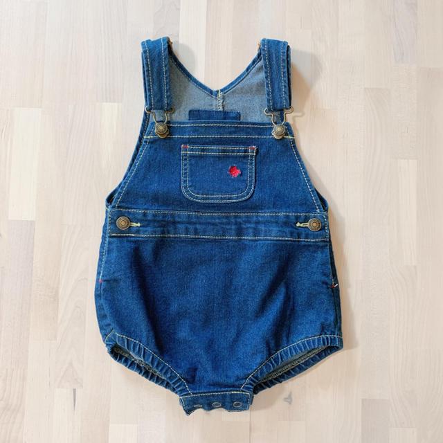 POLO RALPH LAUREN(ポロラルフローレン)のポロベビー  ポロラルフローレン デニム オーバーオール 70 キッズ/ベビー/マタニティのベビー服(~85cm)(ロンパース)の商品写真