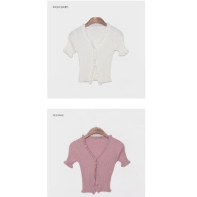 dholic(ディーホリック)のフリルヘムニット レディースのトップス(ニット/セーター)の商品写真