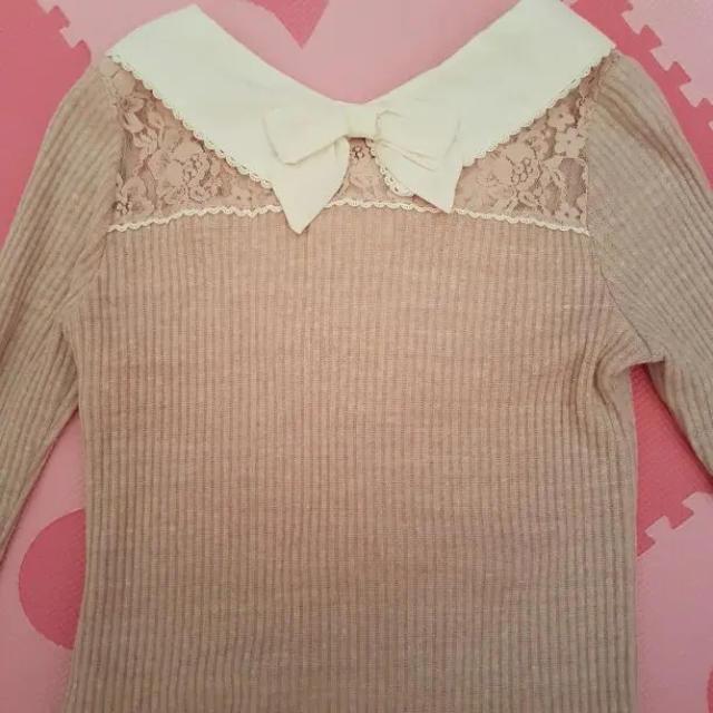 LIZ LISA(リズリサ)のリズリサ LIZ LISA トップス 長袖 襟 ピンク レディースのトップス(カットソー(長袖/七分))の商品写真