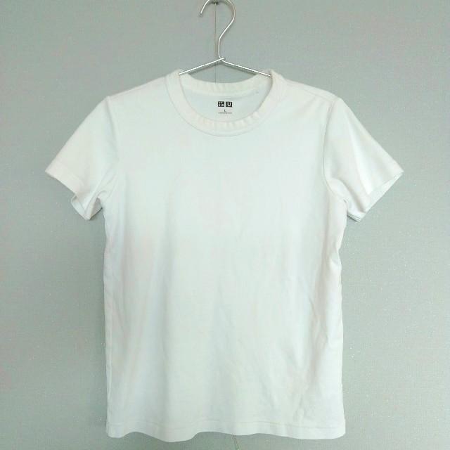 UNIQLO(ユニクロ)のUniqloU 白Tシャツ Lサイズ レディースのトップス(Tシャツ(半袖/袖なし))の商品写真