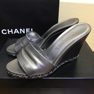 CHANEL - ❤︎ CHANEL   チェーンシルバー ミュール ❤︎
