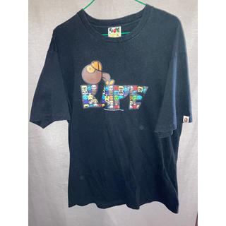 アベイシングエイプ(A BATHING APE)のA BATHING APE Tシャツ 黒 XL(Tシャツ/カットソー(半袖/袖なし))