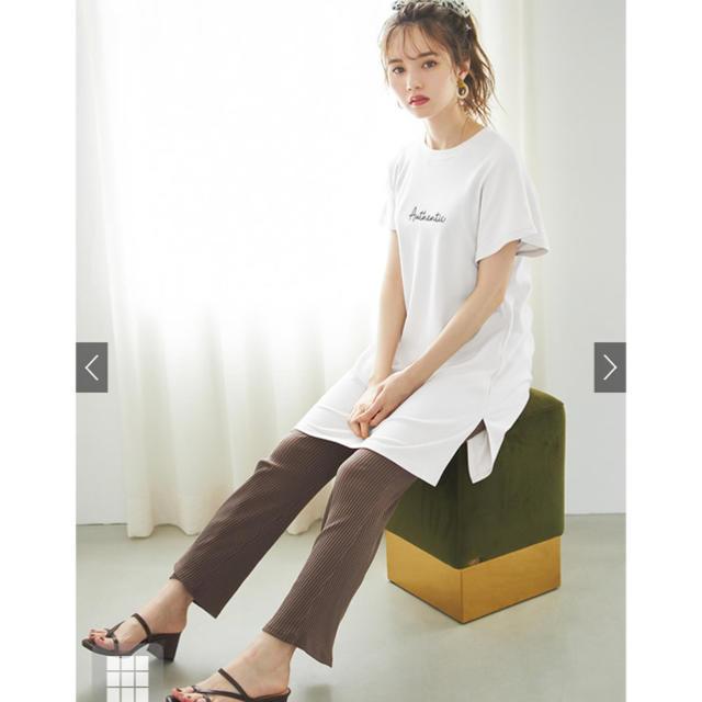 GRL(グレイル)のサイドスリットロゴ レディースのトップス(Tシャツ(半袖/袖なし))の商品写真