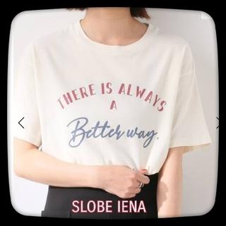IENA SLOBE - SLOBE IENA スローブイエナ メッセージTシャツ ナチュラル/ロゴT