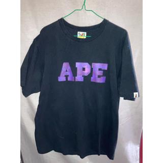 アベイシングエイプ(A BATHING APE)のA BATHING APE 半袖Tシャツ 黒 XL(Tシャツ/カットソー(半袖/袖なし))
