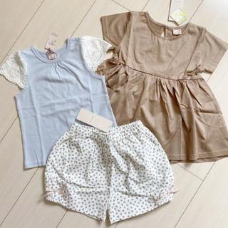 プティマイン(petit main)のプティマイン 110 トップス2枚、ショートパンツ(Tシャツ/カットソー)