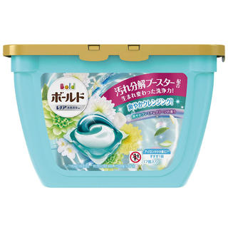 ピーアンドジー(P&G)のボールド ジェルボール 香りつき 洗濯洗剤 爽やかプレミアムクリーン 本体 (洗剤/柔軟剤)