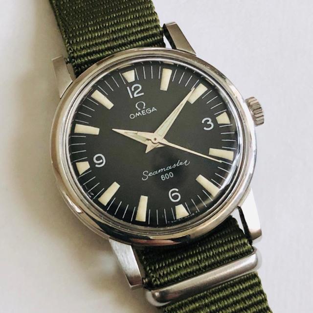OMEGA(オメガ)のOMEGA オメガ シーマスター 600 Cal.601手巻き黒文字盤 OH済 メンズの時計(腕時計(アナログ))の商品写真