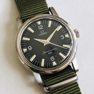 オメガ(OMEGA)のOMEGA オメガ シーマスター 600 Cal.601手巻き黒文字盤 OH済(腕時計(アナログ))