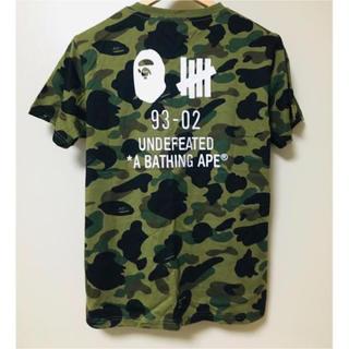 アベイシングエイプ(A BATHING APE)のA bathing ape undefeated Tシャツ コラボ(Tシャツ/カットソー(半袖/袖なし))