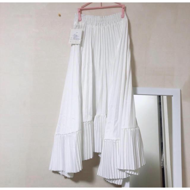 snidel(スナイデル)の大幅値下げ snidel同型 アシメプリーツスカート レディースのスカート(ロングスカート)の商品写真