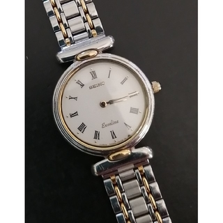 SEIKO - SEIKOセイコー エクセリーヌ コンビ レディース腕時計