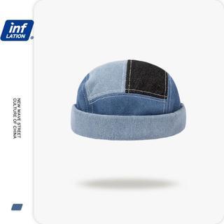ザラ(ZARA)の144-1 メンズ デニム ツバなし帽子 男女兼用 ストリート系 ロールキャップ(ハット)