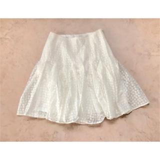 新品定価37,800円タグ付き 立体ふわふわレースフレアスカート(ひざ丈スカート)