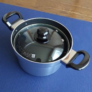 リンナイ(Rinnai)のリンナイ フッ素コート付 アルミ 厚底なべ RDR-300D1(鍋/フライパン)