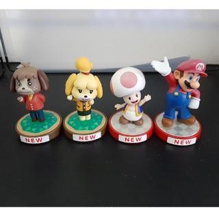 任天堂 - amiibo アミーボ マリオ、キノピオ、しずえ、ケント 4個セット