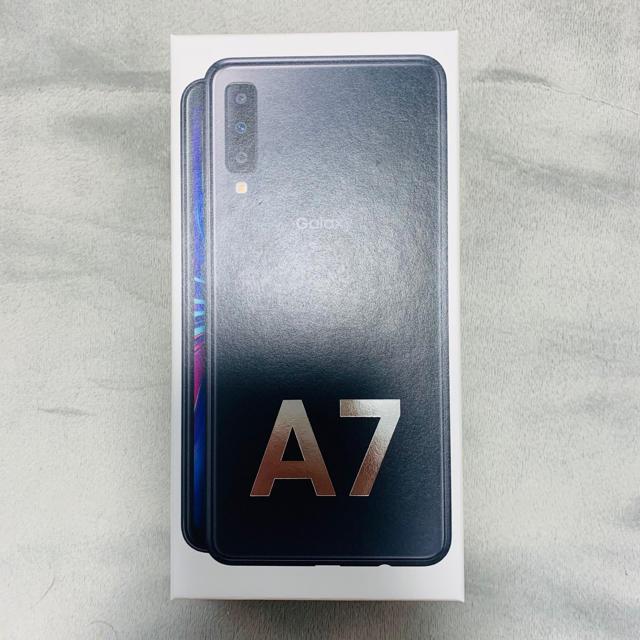 Galaxy(ギャラクシー)のGaraxy A7 64GB SIMフリー ブラック 未開封 スマホ/家電/カメラのスマートフォン/携帯電話(スマートフォン本体)の商品写真