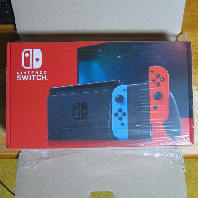 Nintendo Switch(ニンテンドースイッチ)の新品未開封 ニンテンドースイッチ 本体 ネオンブルー ネオンレッド エンタメ/ホビーのゲームソフト/ゲーム機本体(家庭用ゲーム機本体)の商品写真