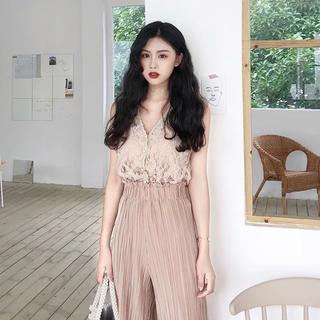dholic - 当日発送可能❤韓国ファッションレースノースリーブトップス+プリーツパンツセット