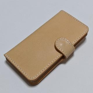アイフォーン(iPhone)のIphoneケース IphoneSE ヌメ革 本革 レザークラフト(iPhoneケース)