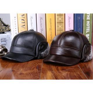 ザラ(ZARA)の135-1 帽子 キャップ メンズ ブランド 秋冬 ベースボール2カラー レザー(キャップ)