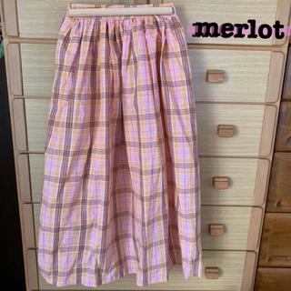 merlot - 【merlot】新品未使用 タグ付き チェック柄マキシスカート