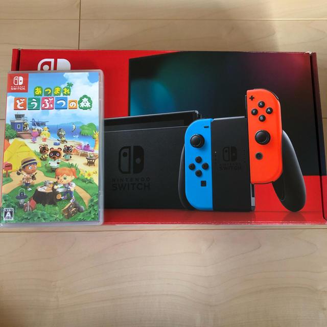 Nintendo Switch(ニンテンドースイッチ)のNintendo Switch 本体 あつまれどうぶつの森 セット エンタメ/ホビーのゲームソフト/ゲーム機本体(家庭用ゲーム機本体)の商品写真