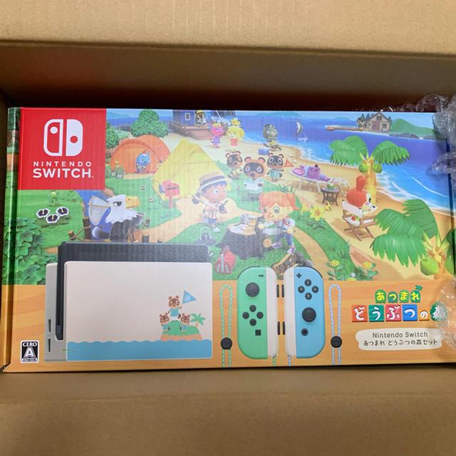Nintendo Switch(ニンテンドースイッチ)のNintendo switchニンテンドースイッチ あつまれどうぶつの森 同梱版 エンタメ/ホビーのゲームソフト/ゲーム機本体(家庭用ゲーム機本体)の商品写真