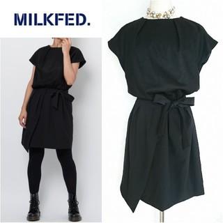 ミルクフェド(MILKFED.)の未使用♥MILKFED.♥ミルクフェド♥異素材リボンドレスワンピース(ミニワンピース)
