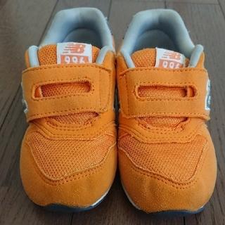 ニューバランス(New Balance)のニューバランス 子供靴 オレンジ 15㎝(スニーカー)