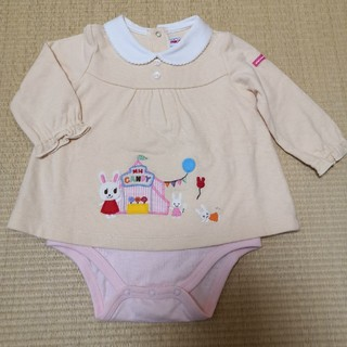 mikihouse - 【新品未使用】MIKI HOUSE☆長袖ロンパース size 70