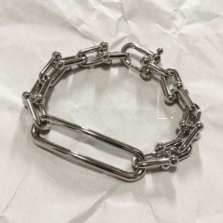 エンフォルド(ENFOLD)の336.wide link bracelet【silver】(ブレスレット/バングル)