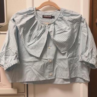 スピンズ(SPINNS)のSPINNS 古着 リメイクシャツ(シャツ/ブラウス(半袖/袖なし))