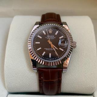 腕時計 付き! ステンレス Dバックル 茶色 レザーベルト 19mm 未使用品