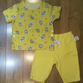 ユニクロ(UNIQLO)のユニクロ パジャマ 100 半袖 ドラえもん 男の子 女の子 イエロー(パジャマ)