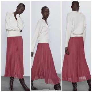 ザラ(ZARA)のZARA プリーツスカート Sサイズ(ロングスカート)