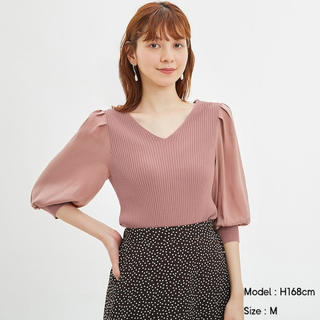 GU - 新品未使用タグ付き◎サテンスリーブセーター