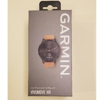 ガーミン(GARMIN)のgarmin vivomove HR OnyxBlack TanSuede(腕時計(デジタル))